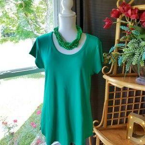 Cynthia Rowley Kelly Green T-shirt Sz XL